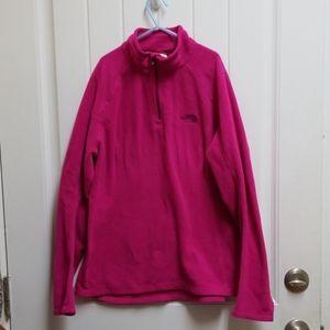 Women's North Face half zip fleece jacket